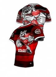 Rashguard BULLDOG RUGBY Red