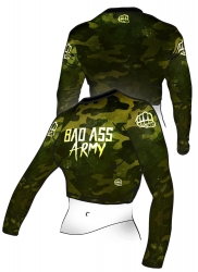 Belly Shirt BAD ASS Army Green