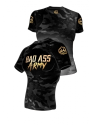 Fit Shirt BAD ASS Army Black
