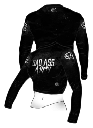 Belly Shirt BAD ASS ARMY Black