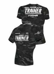Fit Shirt PERSONAL TRAINER Army Black