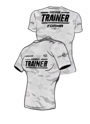 Fit Shirt PERSONAL TRAINER Army White