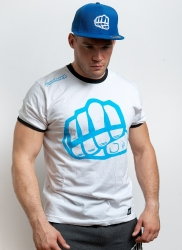 T-shirt OUTLINE 1 White-Blue