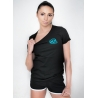 T-shirt Lady 1 Black-Turquoise